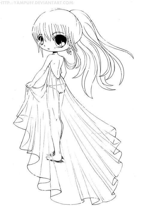 chibi girl coloring pages  images mermaid coloring