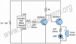 simple magnetic field detector circuit diagram With vibration detector motion electronic project using bipolar transistors