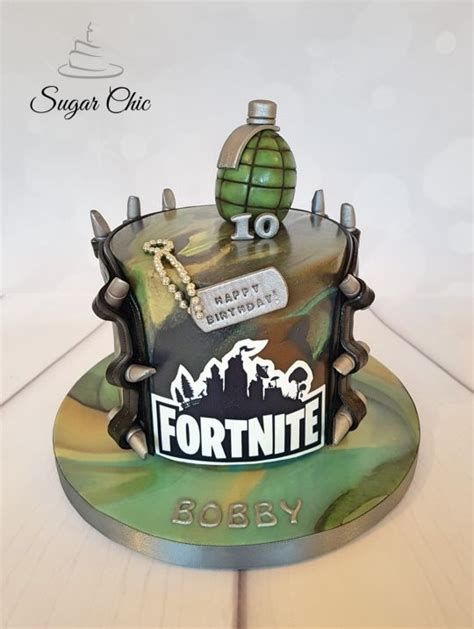 fortnite birthday cake fortnite birthday cake cake by sugar chic cakesdecor