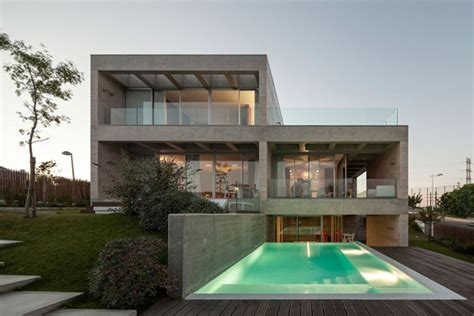 Modern Concrete House Softened By The Walnut Notes In Make Your Own Beautiful  HD Wallpapers, Images Over 1000+ [ralydesign.ml]