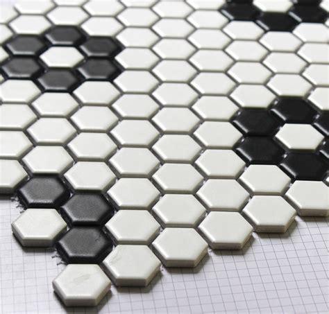 black and white hex tile hexagon mosaics tile black and white parquet mosaic puzzled tiles bathroom floor kitchen