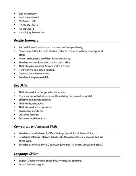 skills based resume aj skills section of resume exle