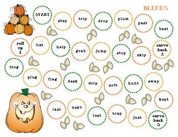 Halloween Phonics Board Games  Simple And Direct By