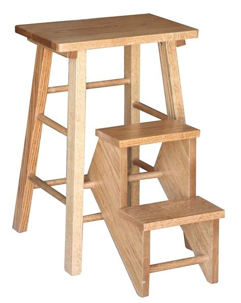 amish folding step stool woodworking furniture wood