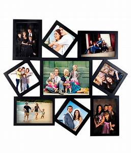 Deep Large 9 in 1 Designer Photo Frame Collage Black: Buy