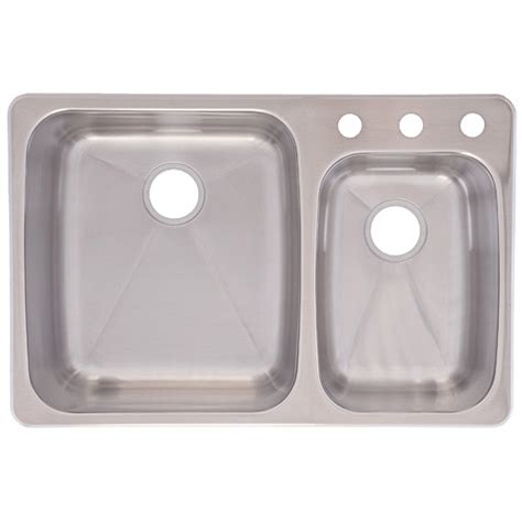 franke usa c2233r 9 dualmount double bowl kitchen sink