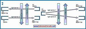 Direction Sensitive Light Barrier Circuit Diagram