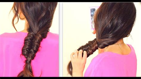 stitch quot fishtail braid tutorial everyday hairstyles for school medium hair youtube