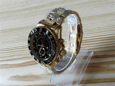 Black bezel and dial Yacht Master 2 | Casio watch, Rolex ...