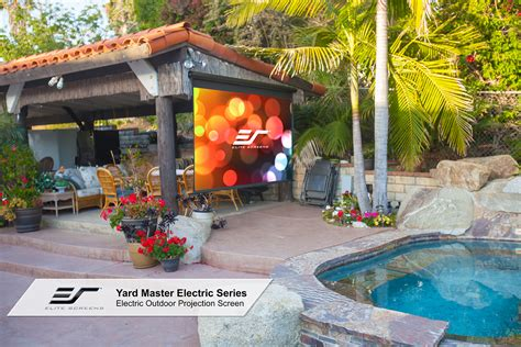Yard Master Electric Series Outdoor Projector Screens