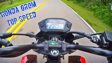 Honda Grom Top Speed!