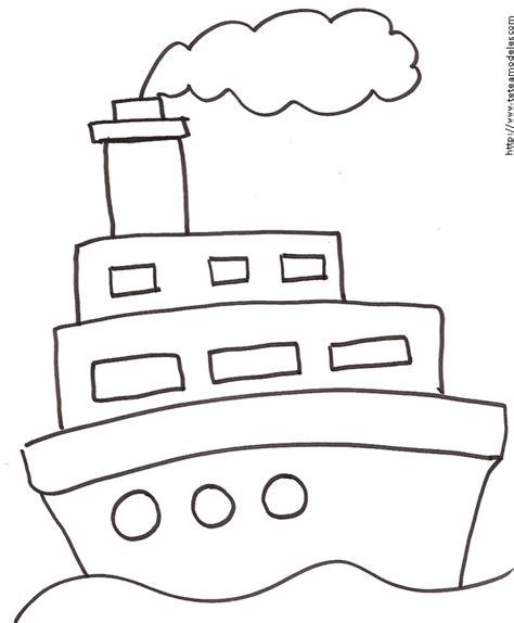 dessins de coloriage bateau  imprimer