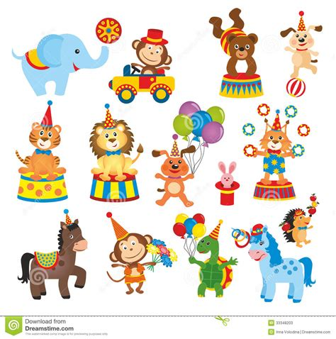 carnival clipart circus animal pencil   color