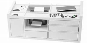 Schreibtisch Mit Druckerfach : rollcontainer schreibtisch design weiss drucker pc rechteck ~ Michelbontemps.com Haus und Dekorationen