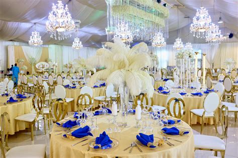 ghana wedding reception decor by unique floral center
