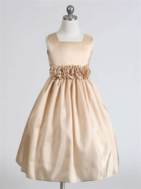 champagne colored dresses dressed girl