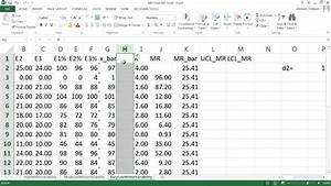 How To Create I-mr Chart In Ms Excel