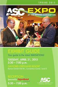 2015 Asc Spring Exhibit Guide By The Adhesive  U0026 Sealant