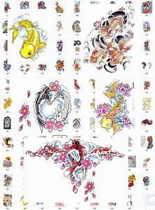 Koi Tattoo Vorlagen : 150 koi fisch design tattoo vorlagen jpg bilder gratis bonus ebay ~ Frokenaadalensverden.com Haus und Dekorationen