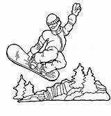 Coloring Snowboarding Sports Cool Source Getcolorings Popular sketch template
