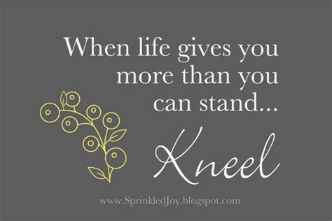 when gives you more than you can stand kneel