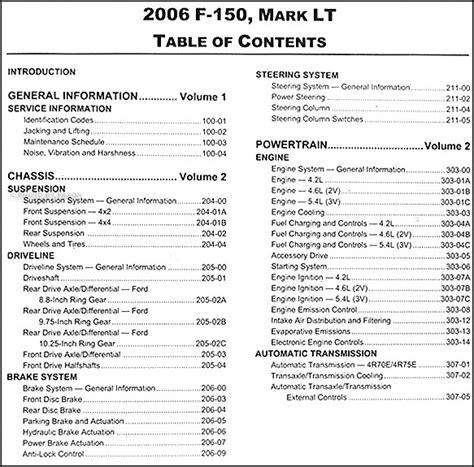 ford   lincoln mark lt repair shop manual