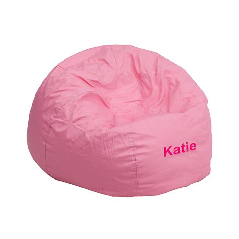 personalized small solid light pink bean bag chair