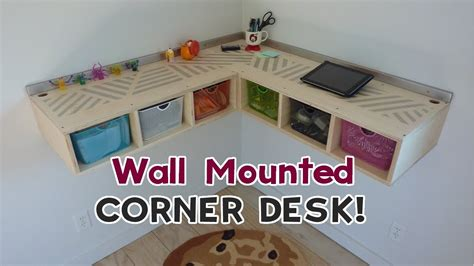 how to make a wall mounted desk diy wall mounted stand up desk youtube