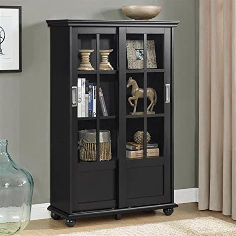 Black Glass Bookcase by Top 12 Bookcases With Glass Doors Of 2018 That You Ll