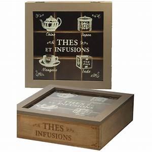 Boite à Thé Bois : boite th en bois pour th tisanes 9 compartiments ~ Teatrodelosmanantiales.com Idées de Décoration