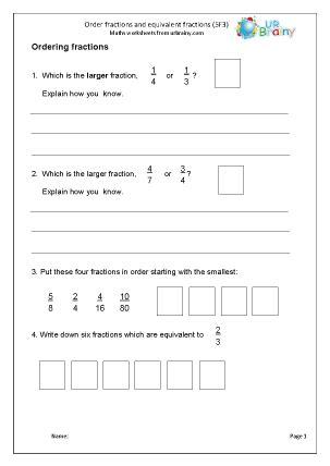 equivalent fractions reasoning fractions maths worksheets for ks2 maths sat practice