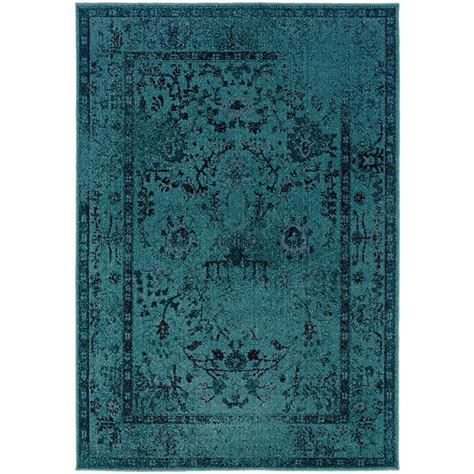 area rug teal overdye teal 7 ft 3 in x 10 ft area rug 3251a the