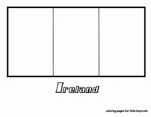 Irish Flag Free Colouring Pages