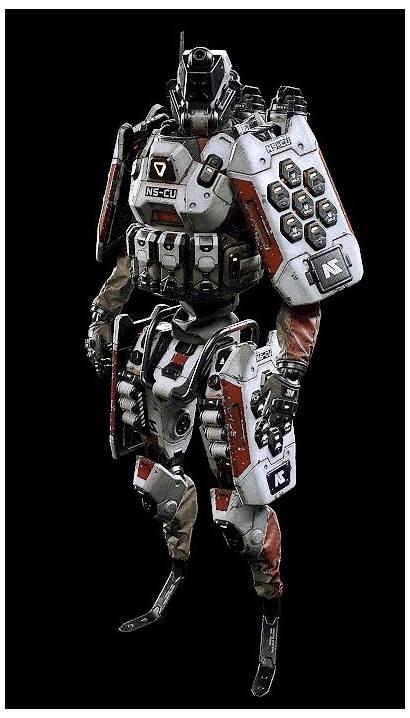 Robot Armor Artstation Concept Planetside Ops Futuristic