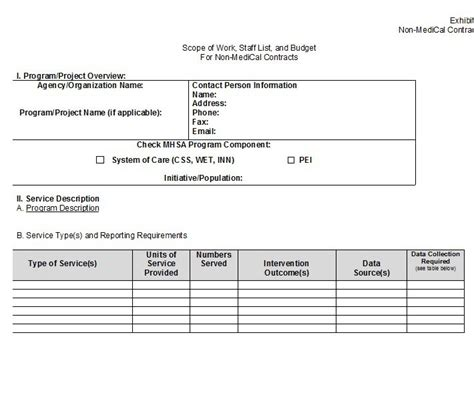 Scope Of Works Template Free 30 Ready To Use Scope Of Work Templates Exles Free