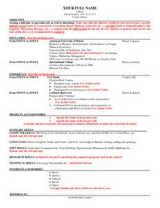 American Resume Format 2015 by How To Write A Resume Sle Resume Sles For Students How To Write An American Cover Letter