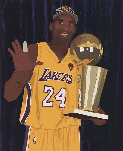 Kobe bryant, despite being one of the truly great basketball players of all time, was just getting started in life. Kobe Bryant Five Championships - Poster - Canvas Print - Wooden Hanging Scroll Frame - Big Eagle