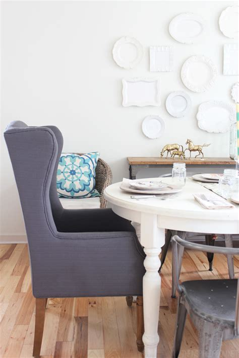Wingbacks In The Dining Room  The Inspired Room