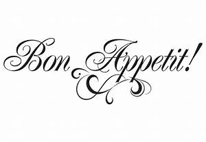 bon appetit wall decal easy decals With kitchen colors with white cabinets with custom transparent stickers