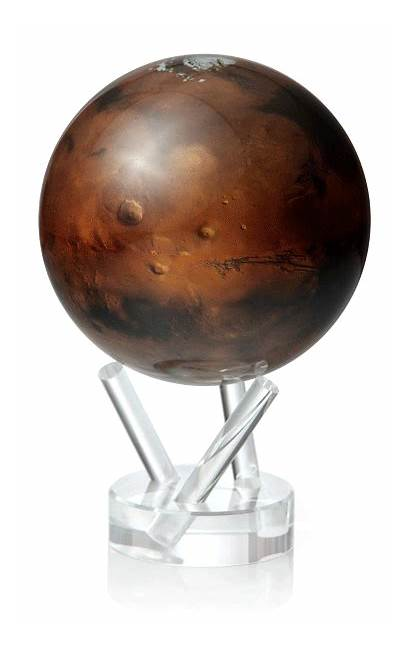 Globe Spinning Mars Desk Solar Powered Planet