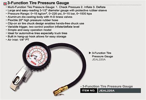 3-function Tire Pressure Gauge
