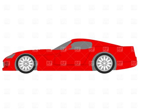 cartoon sports car side view red sportster side view royalty free vector clip art