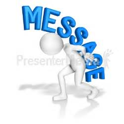 stick figure carry message custom text great clipart for presentations www presentermedia