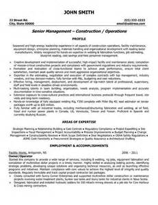 construction owner resume exles 21 best images about best construction resume templates sles on click