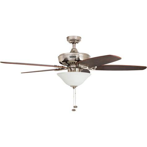 Honeywell Belmar Ceiling Fan, Brushed Nickel Finish, 52