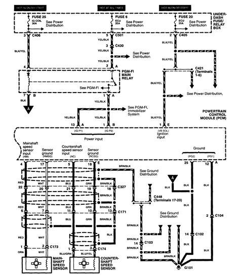 acura rl 2003 2004 wiring diagrams transmission