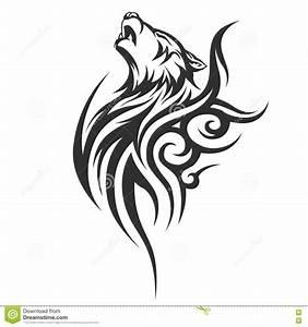 Tribal Wolf Tattoo : tribal tattoo wolf designs cartoon vector 71019149 ~ Frokenaadalensverden.com Haus und Dekorationen