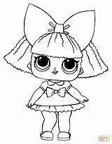 Coloring Lol Doll Pages Queen Glitter Printable Drawing sketch template