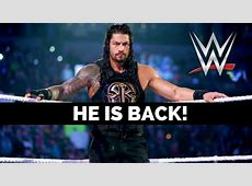 Roman Reigns is coming back very soon! The SportsRush