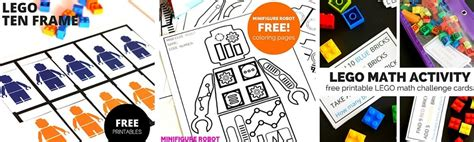 lego learning pages  printables  kids